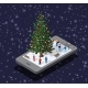 Phone Concept of Winter Holiday Module Block City - GraphicRiver Item for Sale