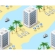 Tourist Travel Hotel Beach Seamless Background - GraphicRiver Item for Sale
