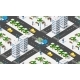 Isometric City with Roads with Streets - GraphicRiver Item for Sale