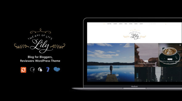 Lily – Blog for Bloggers, Reviewers WordPress Theme, Gobase64