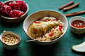 Overnight oatmeal with cinnamon, honey, pear, pomegranate seeds and pine nuts. - PhotoDune Item for Sale