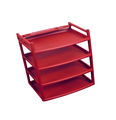Red plastic shelves isolated - PhotoDune Item for Sale