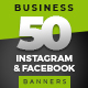 50 Instagram & Facebook Business Banners - GraphicRiver Item for Sale