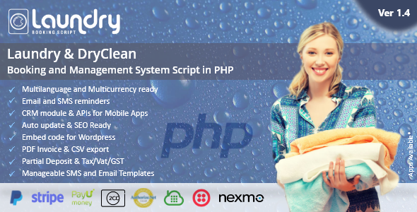 Laundry booking and management script