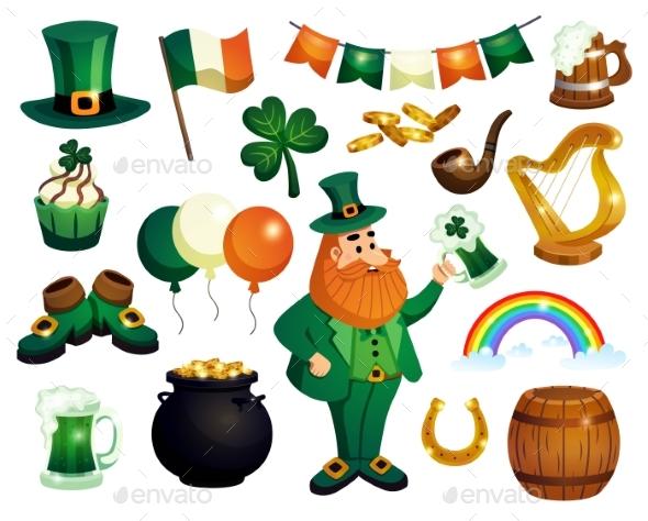 Saint Patricks Icon Set