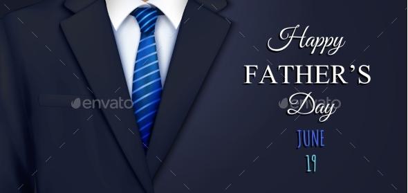 Fathers Suit Horizontal Composition