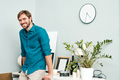 Portrait of young handsome man posing in the office - PhotoDune Item for Sale