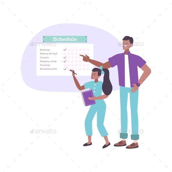 Parenting Flat Concept