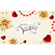 Decorations with Gifts and Hearts on White Valentines Background - GraphicRiver Item for Sale