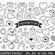 Valentine's Day Hand Drawn Doodles - GraphicRiver Item for Sale