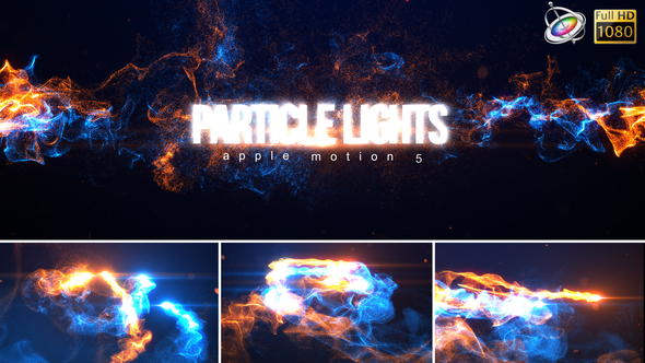 Particle Light Reveal - Apple Motion