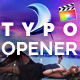Typo Opener | For Final Cut & Apple Motion - VideoHive Item for Sale