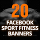 20 Facebook Sport Fitness Banners - GraphicRiver Item for Sale