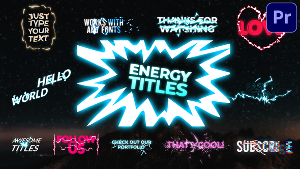Energy Titles Pack | Premiere Pro MOGRT