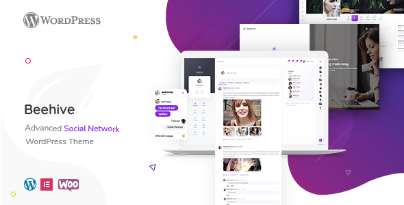Beehive - Social Network WordPress Theme