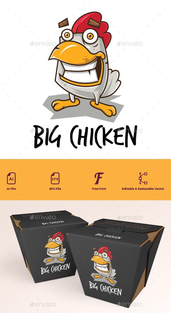 Big Chicken Cartoon Logo