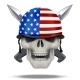 Skull with Knife USA Label - GraphicRiver Item for Sale