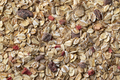 Muesli, mixture of oatmeal and dried fruit close up full frame - PhotoDune Item for Sale
