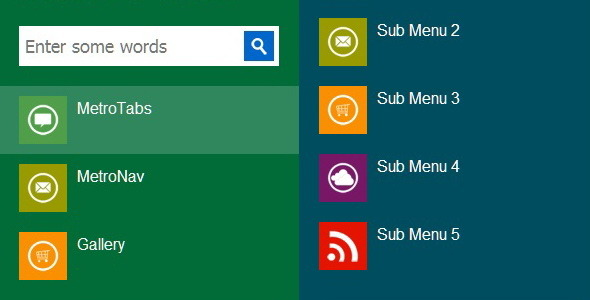 MetroPanel - The New Navigator for Modern Sites