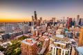 Chicago, Illinois, USA aerial cityscape towards Lake Michigan - PhotoDune Item for Sale