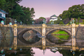 Tokyo, Japan at the Imperial Palace moat and bridge - PhotoDune Item for Sale