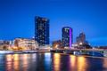 Grand Rapids, Michigan, USA downtown skyline on the Grand River - PhotoDune Item for Sale