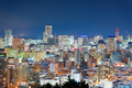 Sapporo, Japan Downtown at Night - PhotoDune Item for Sale