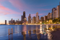 Chicago Skyline in Lake Michigan - PhotoDune Item for Sale