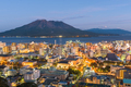 Kagoshima, Japan skyline with Sakurajima Volcano - PhotoDune Item for Sale