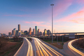 Houston, Texas, USA Downtown Skyline over the Highways - PhotoDune Item for Sale