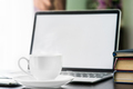 Coffee cup and laptop with book-3 - PhotoDune Item for Sale