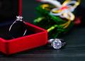 Diamond ring in red jewel box-6 - PhotoDune Item for Sale