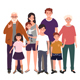 Big Happy Family Together - GraphicRiver Item for Sale