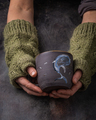 Hand made cup in female hands, dark photo - PhotoDune Item for Sale