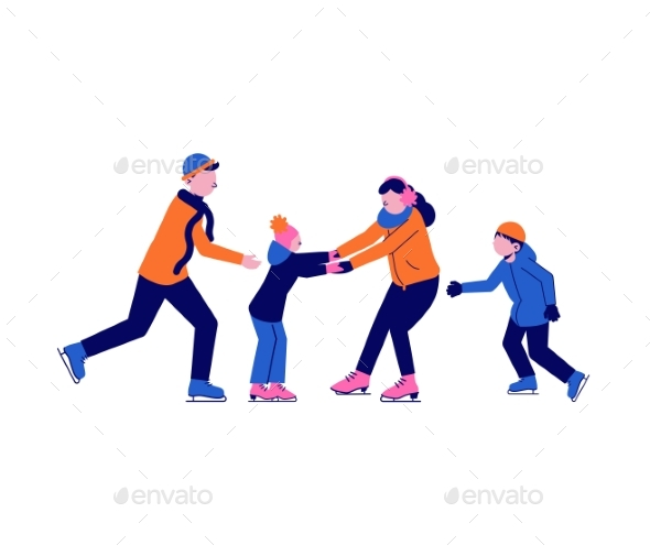 Family Skating Icon