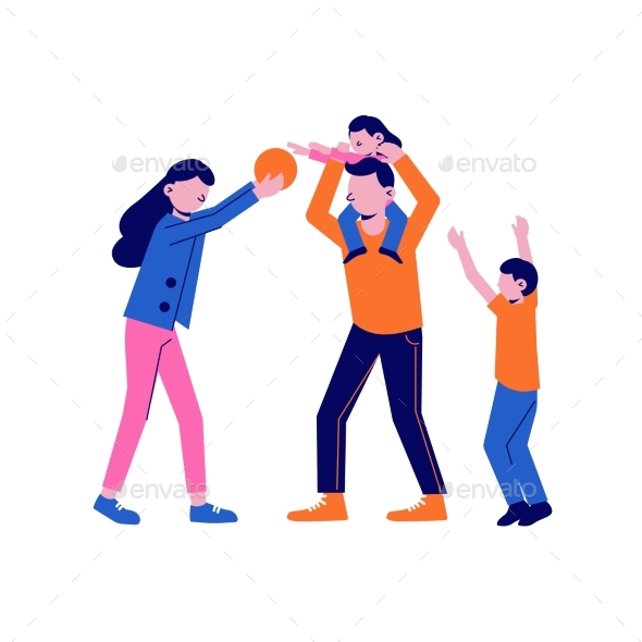 Flat Family Sport Icon
