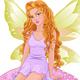 Fairy Sitting on Mushroom - GraphicRiver Item for Sale