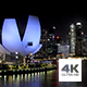Singapore ArtScience Museum and CBD by Night Timelapse - VideoHive Item for Sale
