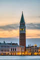 View to Piazza San Marco in Venice after sunset - PhotoDune Item for Sale