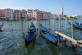 Gondolas at the Grand Canal in Venice - PhotoDune Item for Sale