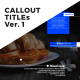 Callout Titles Version 1 - VideoHive Item for Sale