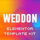 Weddon - Wedding Event Invitation Elementor Template Kit - ThemeForest Item for Sale