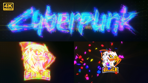 Colorful Cyber Glitch Logo