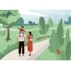 Happy Family with Father Mother and Their Son and - GraphicRiver Item for Sale