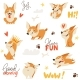 Seamless Background with Welsh Corgi Dog - GraphicRiver Item for Sale