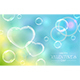 Valentines Hearts with Bubbles on Sky Background - GraphicRiver Item for Sale