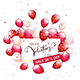 Text Happy Valentines Day and Sale with Balloons and Confetti - GraphicRiver Item for Sale