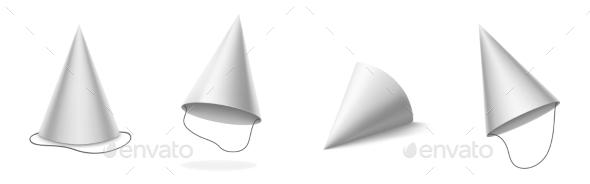 White Party Hat for Birthday Celebration