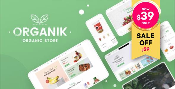 Organik - Organic Food Store WordPress Theme