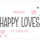 Happy Loves - Cute Display Font - GraphicRiver Item for Sale
